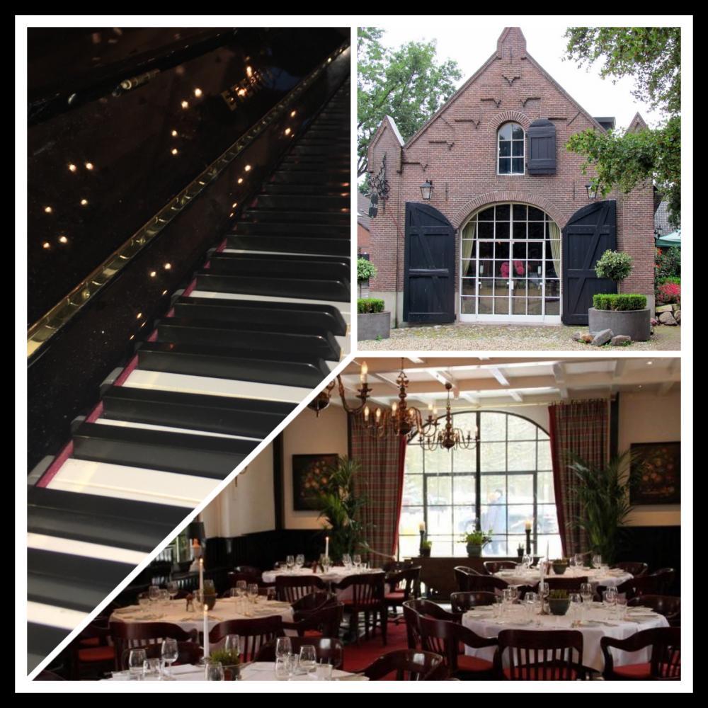 In Lage Vuursche piano spelen tijdens een verjaardagsfeest
