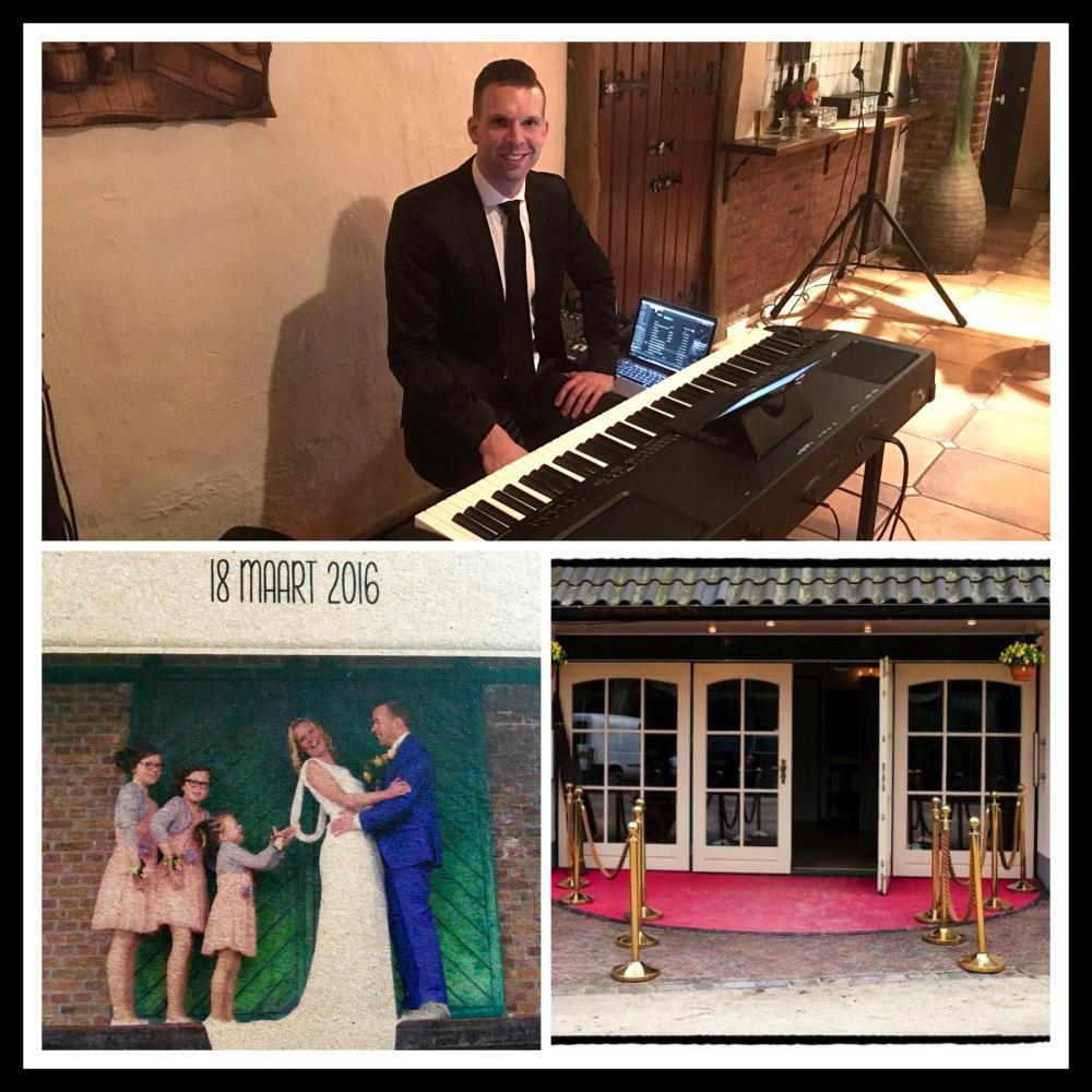 Piano spelen op een prachtige bruiloft in Epe