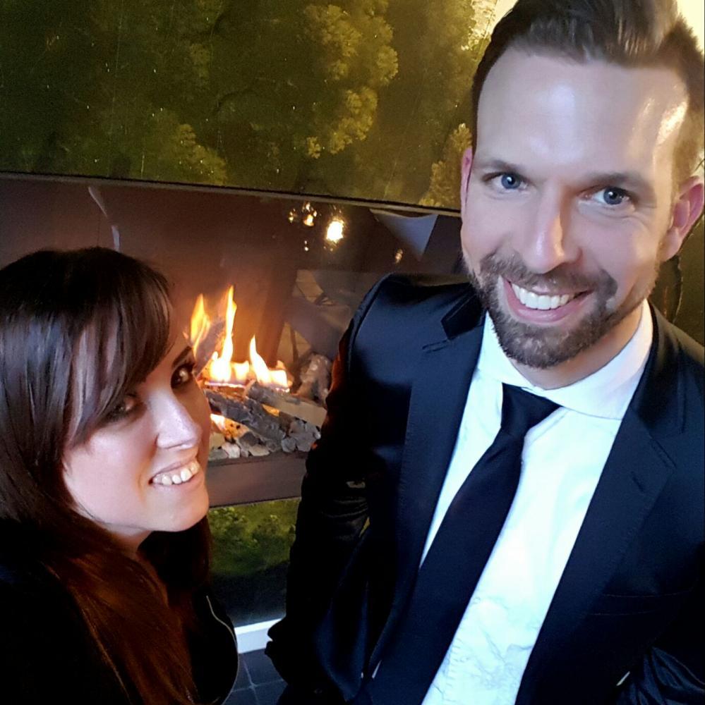 Met zangeres Eveline Cocu spelen op een bruiloft op Kasteel Amerongen