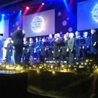 Dirigeren tijdens kerstnacht met gospelkoor Elim in Waddinxveen