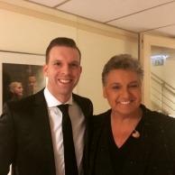 Met Rene Froger op de foto tijdens zijn concert in het Afas Circustheater