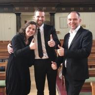 Met Maurice en Janita van Dijk op trompet een trouwdienst spelen in Echteld.