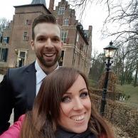 Met zangeres Eveline Cocu spelen in het kasteel Wijenburg in Echteld